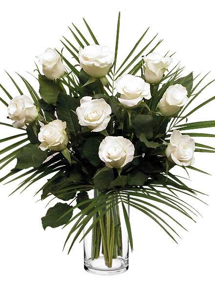 Ramo de 10 Rosas blancas - Floristería Bilbao Gandarias