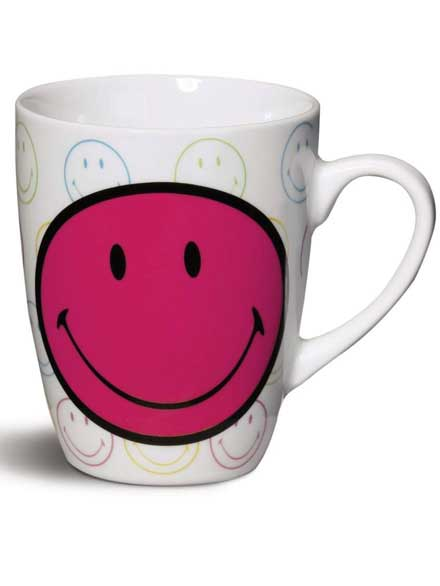 Taza Smiley Rosa